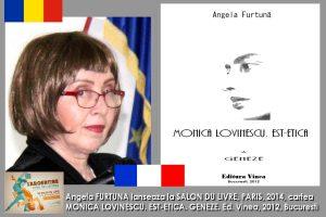 Angela FURTUNA, SALON DU LIVRE 2014 PARIS, MONICA LOVINESCU.EST-ETICA