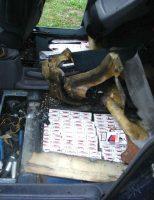 Țigări de contrabandă, confiscate de polițiști