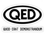 Quod erat demonstrandum (Q.e.d.)