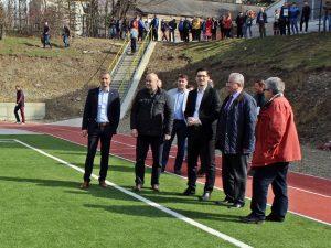 Ion Lungu și Razvan Burleanu la  Liceul cu Program Sportiv Suceava