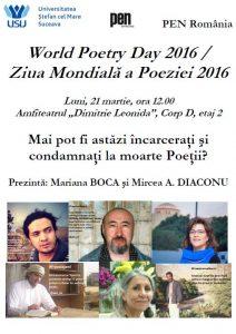 afis usv ziua mondiala a poeziei