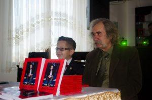 Octavian Gherasim, alături de scriitorul Casian Balabașciuc