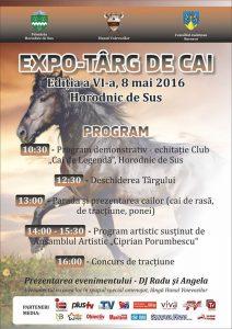 afis Expo – Târg de cai, la Horodnic de Sus