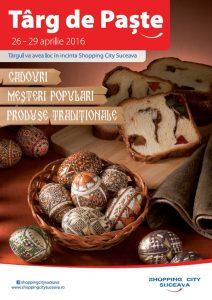 afis Targ de Paste - Shopping City Suceava