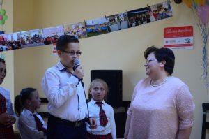 Octavian Gherasim, alături de coordonatorul proiectului