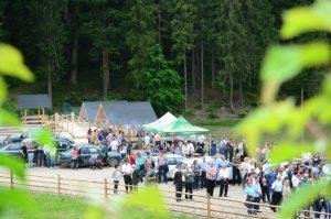 Sute de persoane au participat la inaugurarea acestei zone de agrement