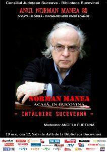 """afis """"Norman Manea acasă, în Bucovina"""""""