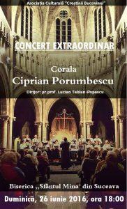 """Concert deosebit la Biserica """"Sf. Mina"""" din Suceava"""