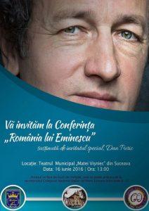 """Conferință despre Eminescu, la Teatrul Municipal """"Matei Vișniec"""""""