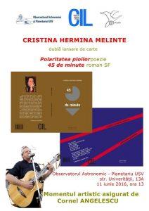 Dublă lansare de carte a autoarei Cristina Hermina Melinte