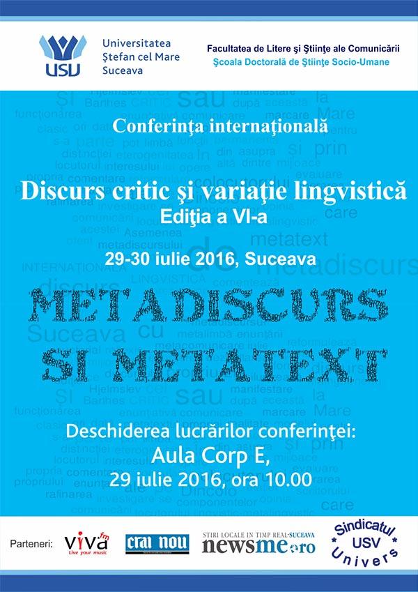 afis conferinta internationala