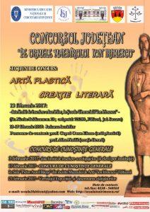 CONCURSUL JUDETEAN- 'PE URMELE MAESTRULUI ION IRIMESCU'