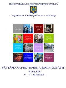 afis saptamana prevenirii criminalitatii 2017