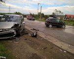 Patru autovehicule, implicate într-un accident la ieșire din orașul Siret