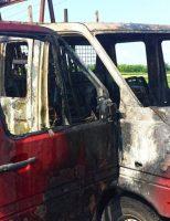 Incendiu la o autoutilitară ce transporta geamuri termopan