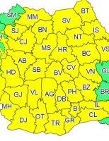 Județul Suceava, sub cod galben de ploi și instabilitate atmosferică accentuată