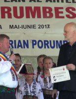 """Titlul de """"Cetățean de onoare"""" al comunei Ciprian Porumbescu, acordat actorului Vlad Rădescu"""