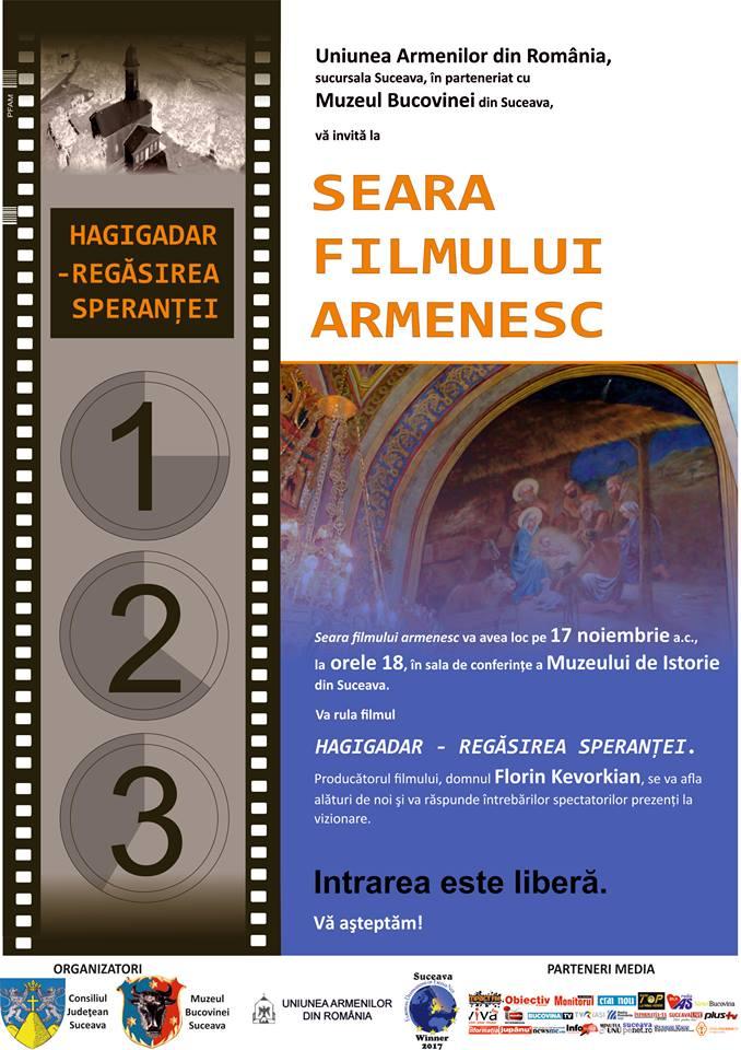 Seara filmului armenesc, la Muzeul de Istorie din Suceava