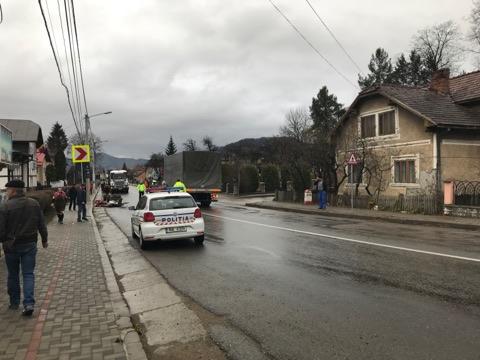 Trafic blocat în Câmpulung Moldovenesc, din cauza unui accident rutier
