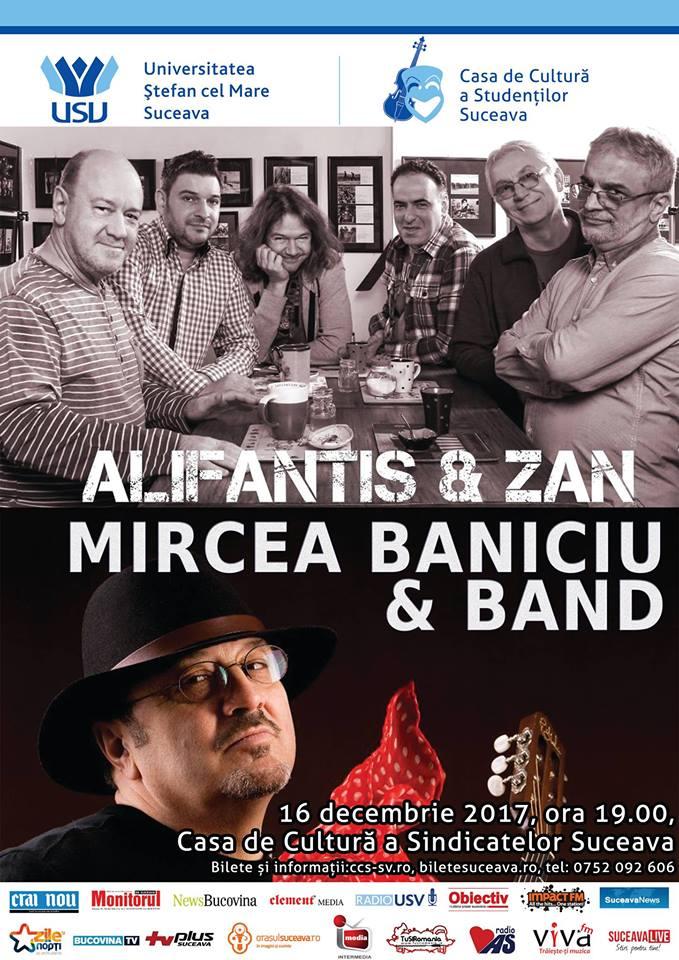 Mircea Baniciu și Nicu Alifantis concertează la Suceava