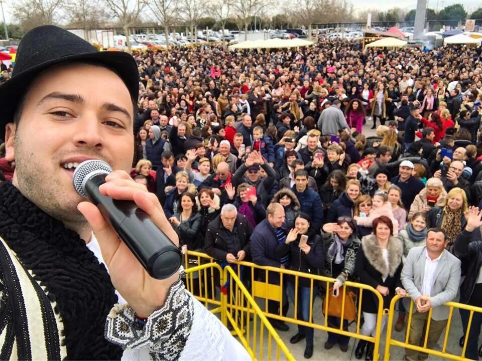 Alexandru Brădățan, alături de românii din Spania