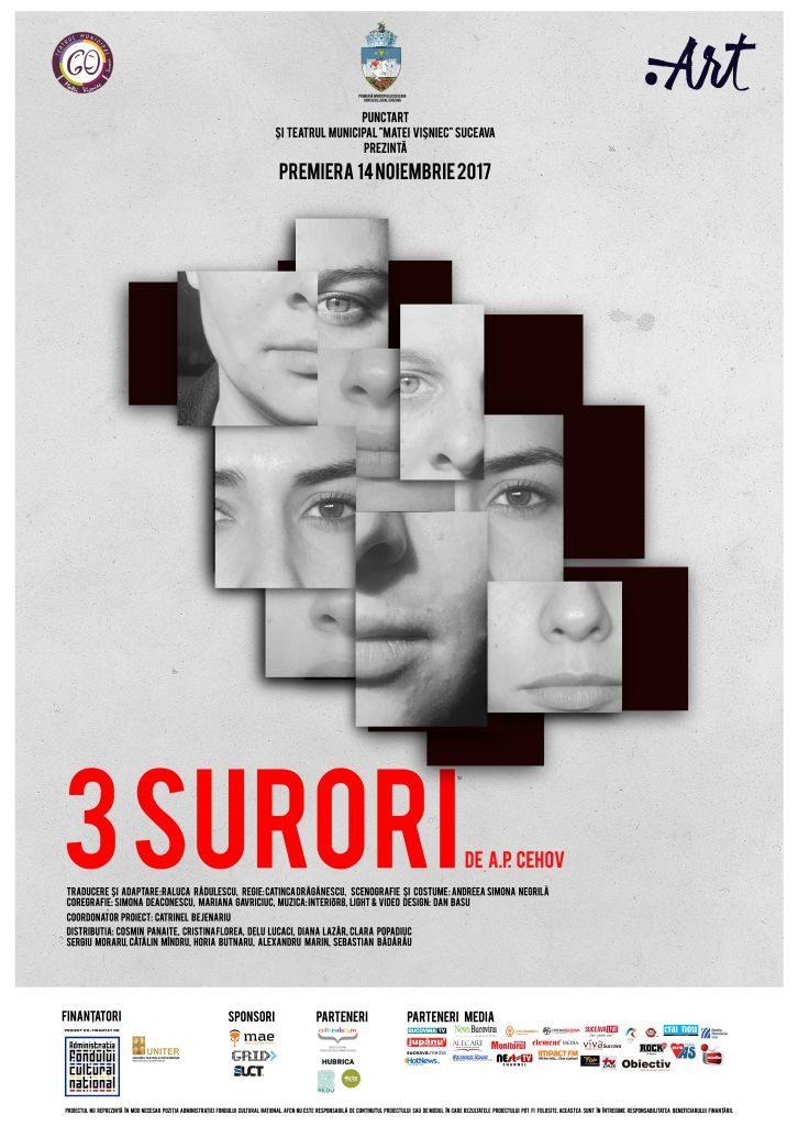 """""""3 Surori"""", un spectacol inedit pe scena Teatrul Municipal """"Matei Vișniec"""""""