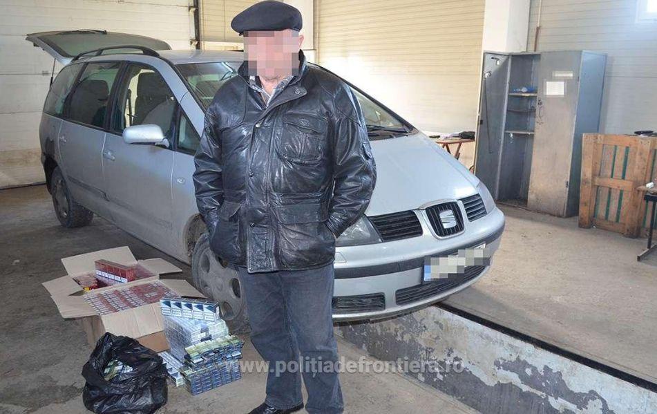 Doi bărbați ce transportau țigări de contrabandă, depistați de oamenii legii la Siret