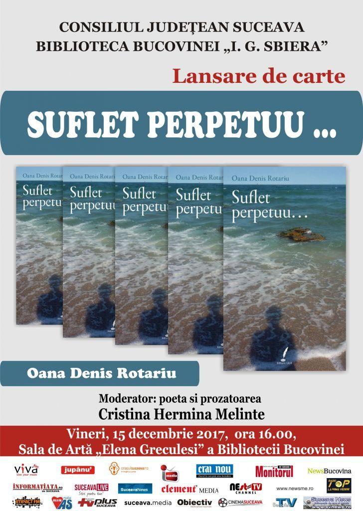 """Lansarea cărții """"Suflet perpetuu…"""", la Biblioteca Bucovinei"""