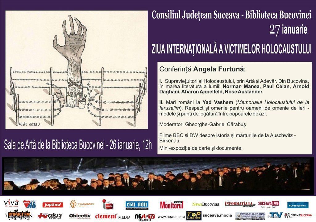 Conferință despre victimelor Holocaustului la  Biblioteca Bucovinei