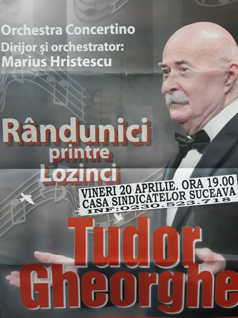 """""""Rândunici printre lozinci"""", concert susținut de Tudor Gheorghe la Suceava"""