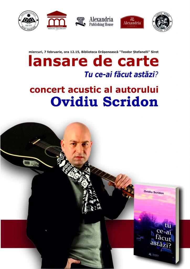 """Lansarea volumului de poeme """"Tu ce-ai făcut astăzi?"""", la Biblioteca """"Teodor Ștefanelli"""" din Siret"""