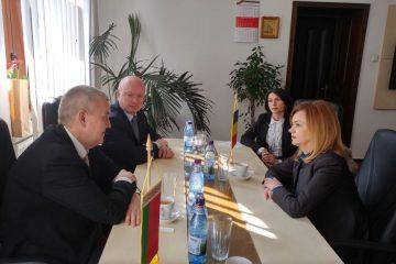 Ambasadorul Belarus, Excelența Sa Andrei Grinkevich- întrevedere cu prefectul Mirela Elena Adomnicăi
