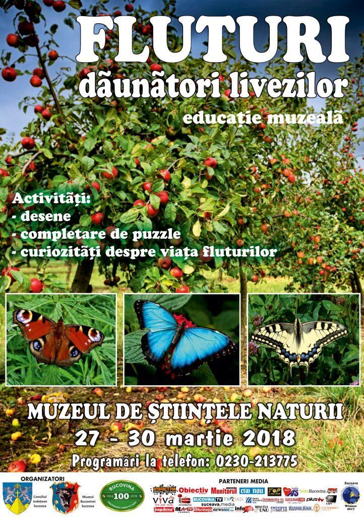 """Lecţia muzeală """"Fluturi dăunători livezilor"""", la Muzeul de Științele Naturii din Suceava"""