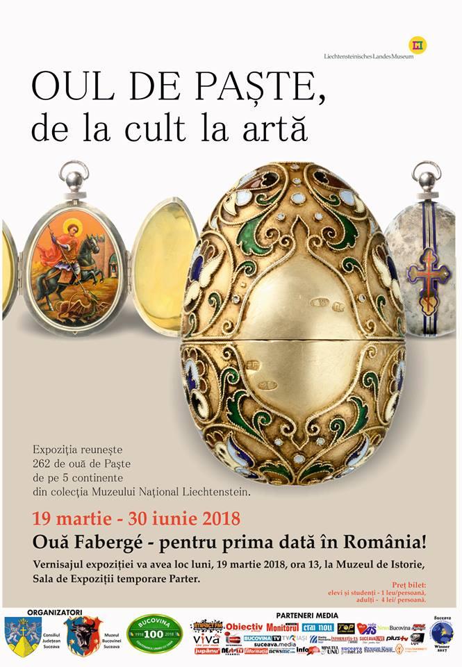 Ouă Faberge, expuse pentru prima dată în România, la Muzeul de Istorie Suceava