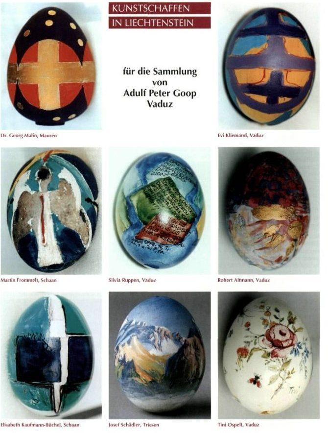 oua de pasti din colectia donata de Adulf Peter Goop