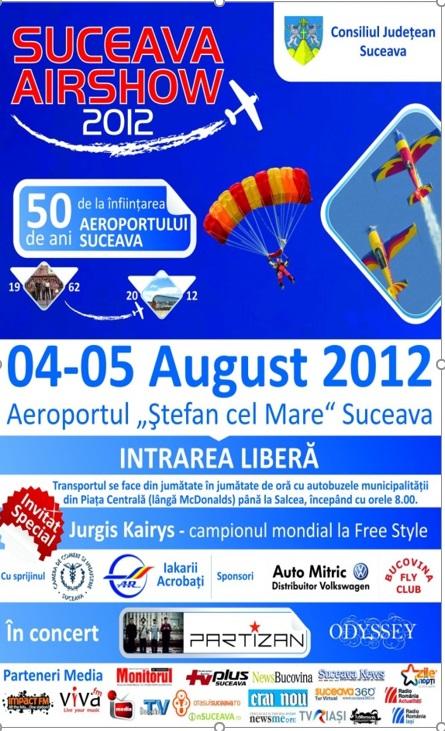 Afisul Suceava Air Show 2012
