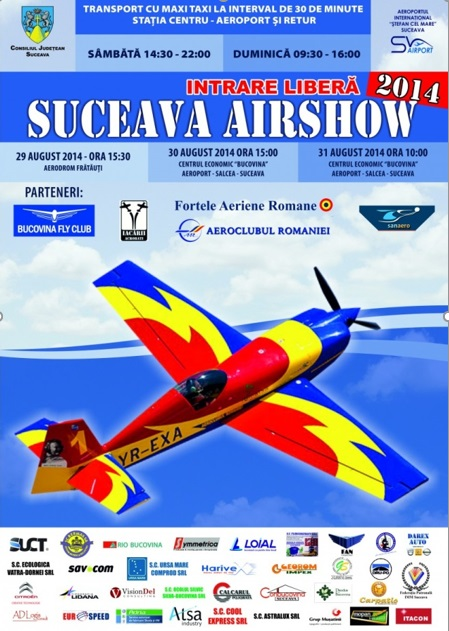Afișul Suceava Air Show 2014