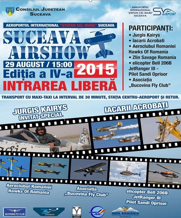 Afișul Suceava Air Show 2015