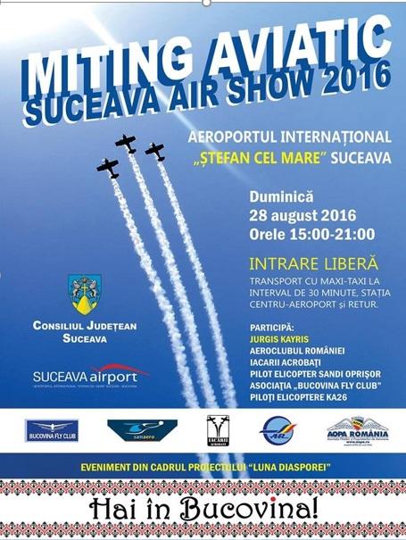 Afișul Suceava Air Show 2016