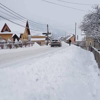 Imagine din comuna Pojorîta, de luni dimineață