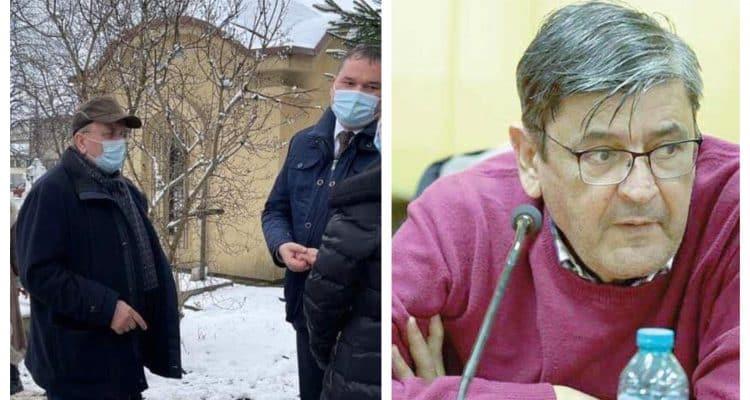 Ministrul Attila Cseke și președintele Gheorghe Flutur au aprins o lumânare la mormântul medicului Cristian Irimie