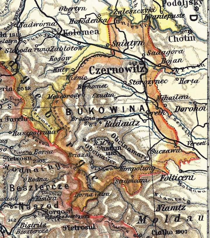 Harta Bucovina ZDB